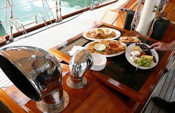Classic Sailing Yacht Haparanda Dining On Deck
