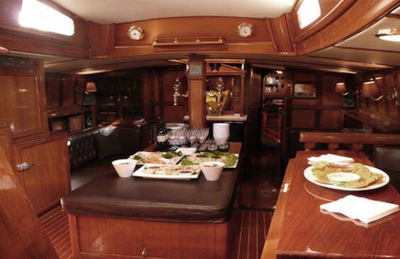 Classic Sailing Yacht Haparanda Dining