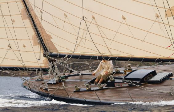 Classic Sailing Yacht Kate Aft Deck