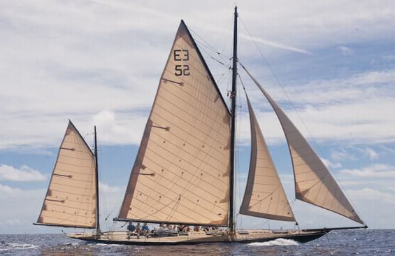 Classic Sailing Yacht Kate Under Sail