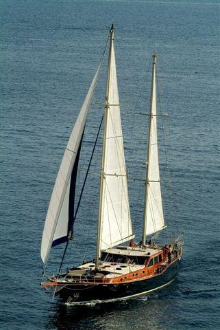 Classic Sailing Yacht Montecristo Arial Portrait