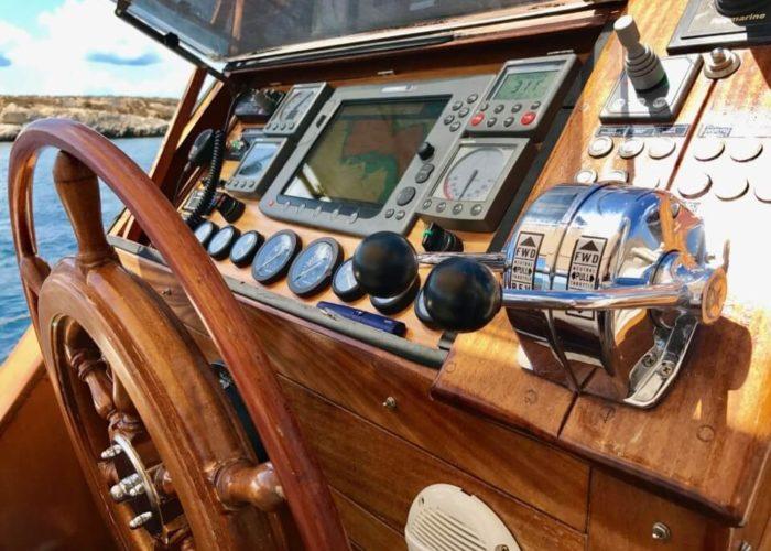 Classic Sailing Yacht Montecristo Cockpit
