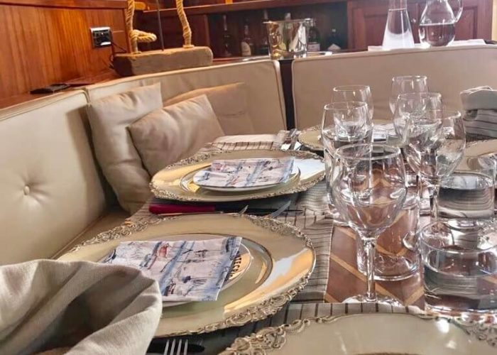 Classic Sailing Yacht Montecristo Dining