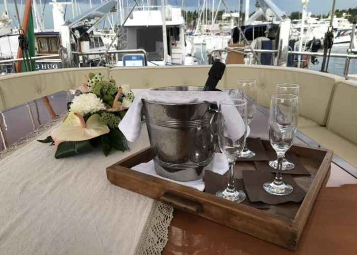 Classic Sailing Yacht Montecristo Dining On Deck