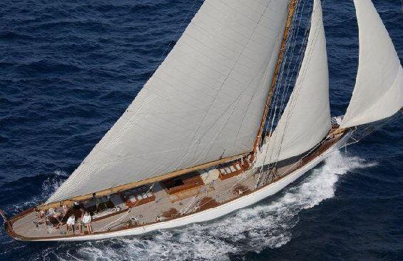 Classic Sailing Yacht Moonbeam III Aerial View