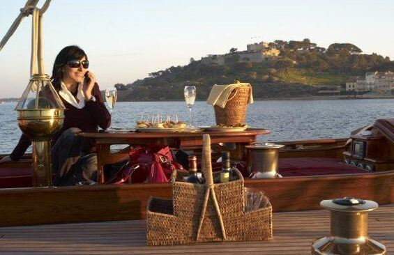 Classic Sailing Yacht Moonbeam III Dining On Deck