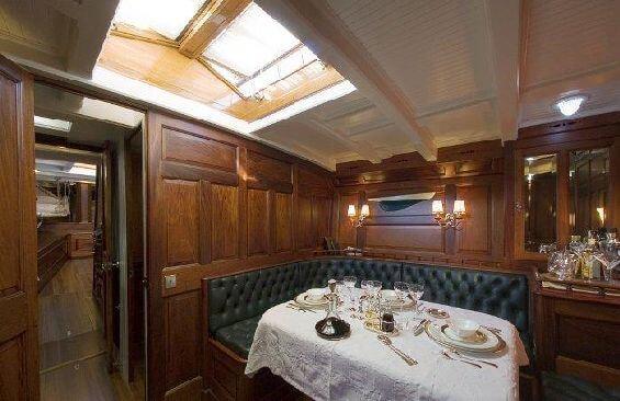 Classic Sailing Yacht Moonbeam III Dining