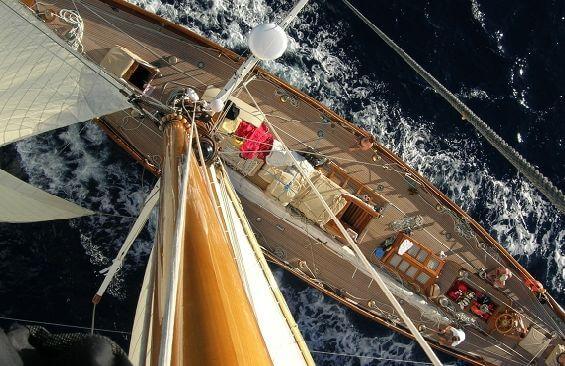 Classic Sailing Yacht Moonbeam III Mast Head View