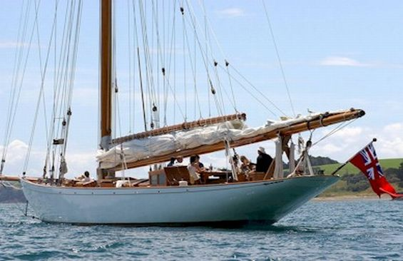 Classic Sailing Yacht Moonbeam IV Anchored