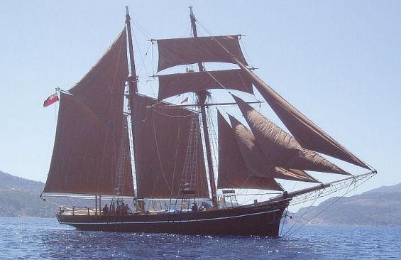 Classic Sailing Yacht Rhea for charter