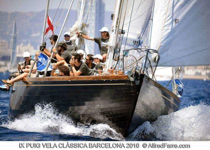 Classic Sailing Yacht Samarkand Racing Action