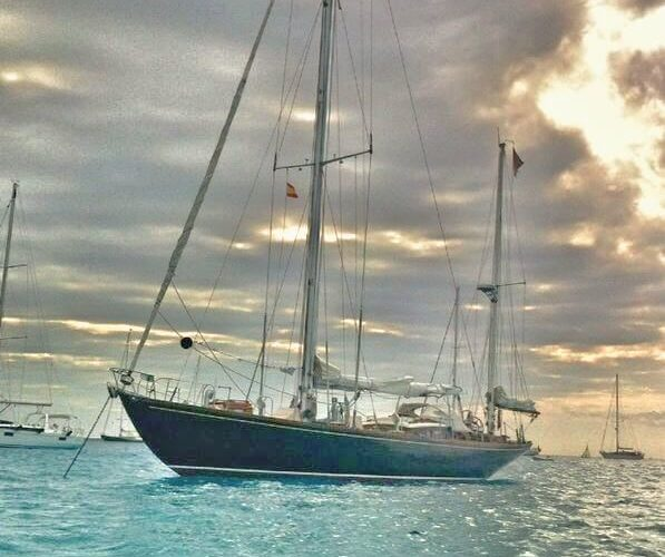 Classic Sailing Yacht Samarkand At Anchor