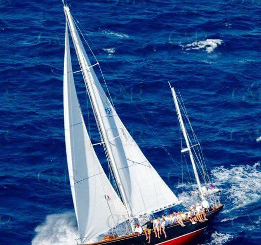 Classic Sailing Yacht Samarkand Beam Wind