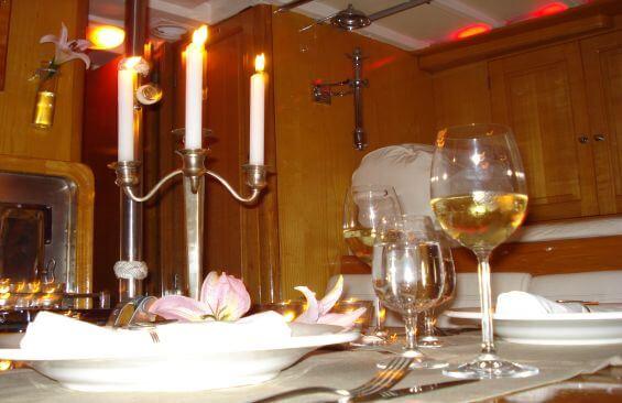 Classic Sailing Yacht Samarkand Dining