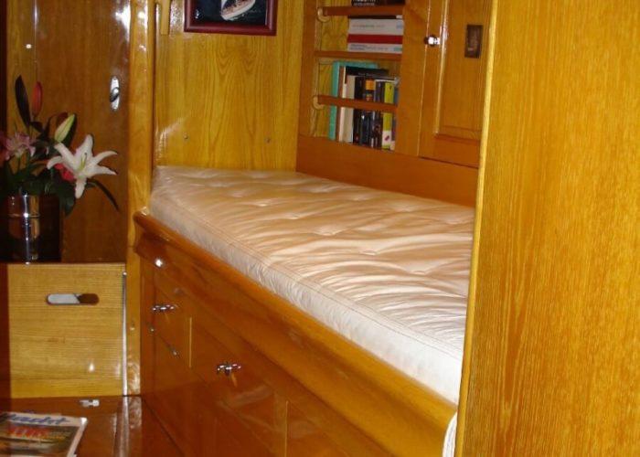 Classic Sailing Yacht Samarkand Single Bed In Master Cabin