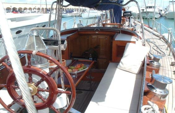 Classic Sailing Yacht Samarkand Wheel