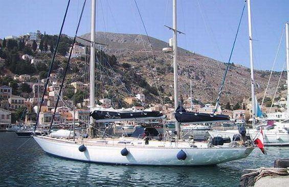 Classic Sailing Yacht Shaitan At Anchor