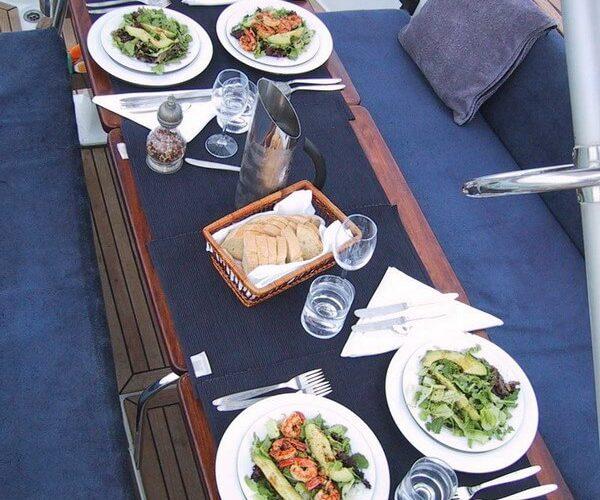 Classic Sailing Yacht Shaitan Food