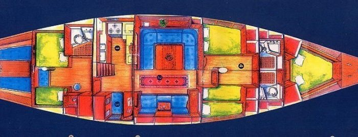 Classic Sailing Yacht Shaitan Layout