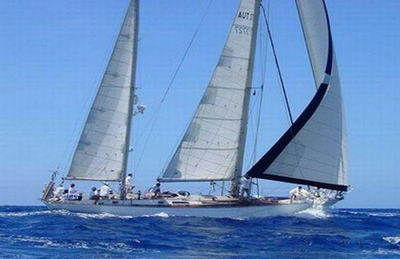 Classic Sailing Yacht Shaitan Under Sail