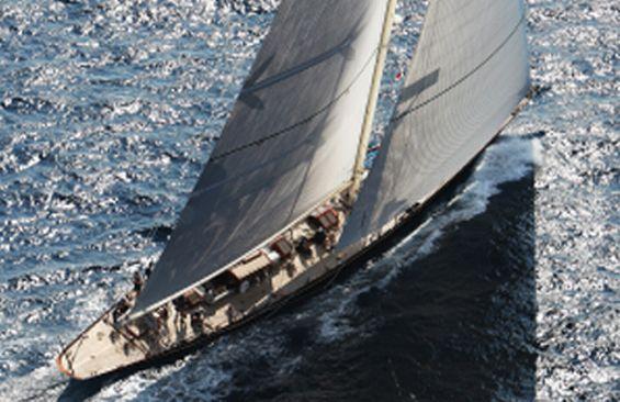 Classic Sailing Yacht Shamrock V Aerial View