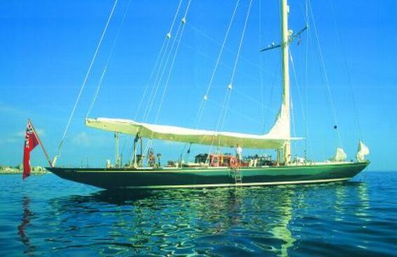 Classic Sailing Yacht Shamrock V Anchored