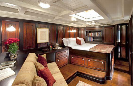 Classic Sailing Yacht Shamrock V Cabin