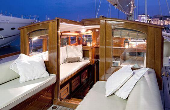 Classic Sailing Yacht Shamrock V Companionway