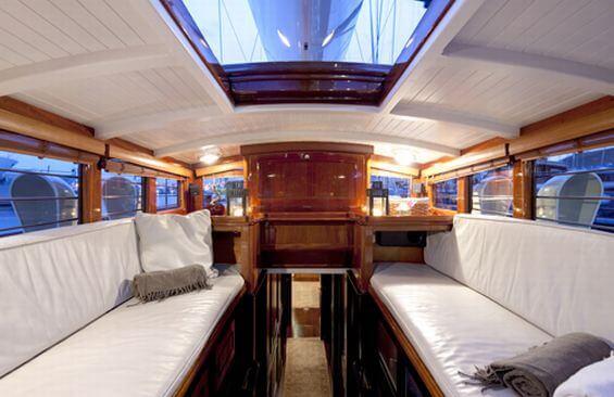 Classic Sailing Yacht Shamrock V Covered Seating