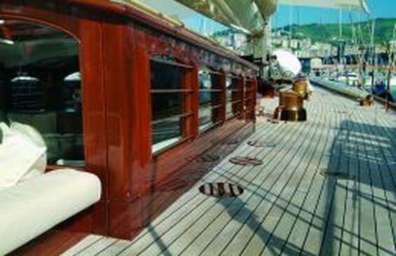 Classic Sailing Yacht Shamrock V Deck