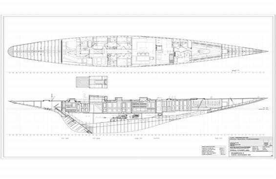 Classic Sailing Yacht Shamrock V Layout