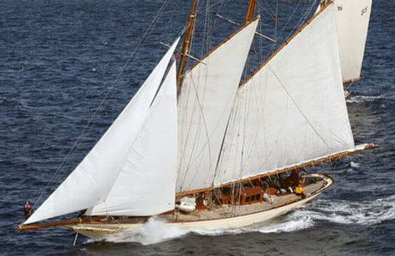 Classic Sailing Yacht Sunshine Aerial View