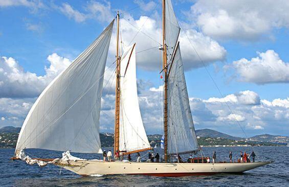 Classic Sailing Yacht Sunshine Port Side