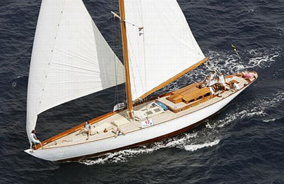 Classic Sailing Yacht The Blue Peter Aerial Shot