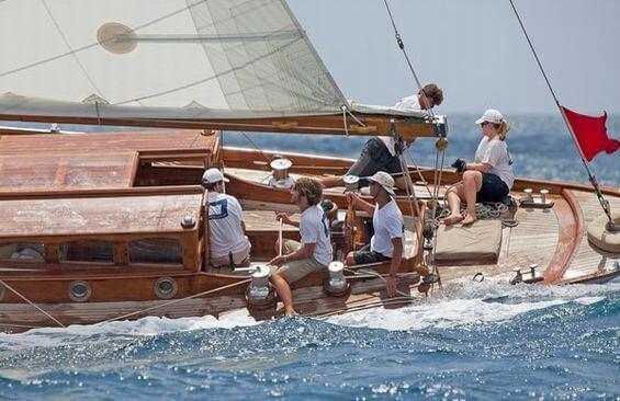 Classic Sailing Yacht The Blue Peter Regatta Racing