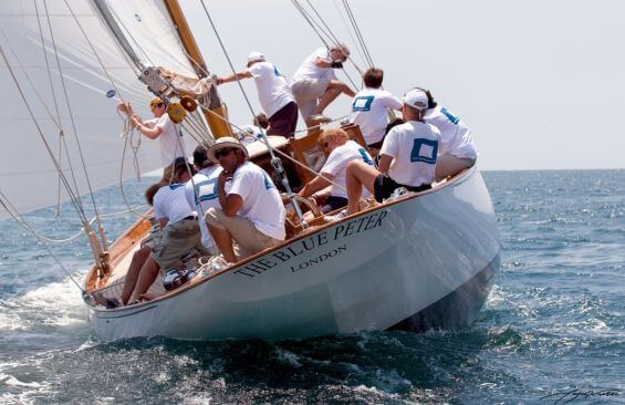 Classic Sailing Yacht The Blue Peter Stern