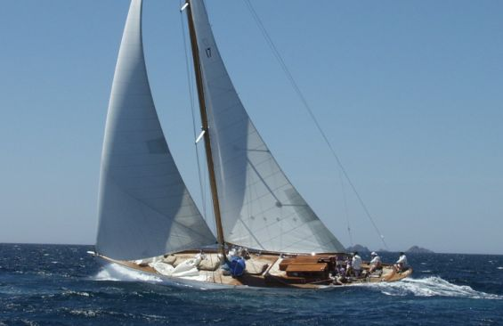 Classic Sailing Yacht The Blue Peter Under Sail