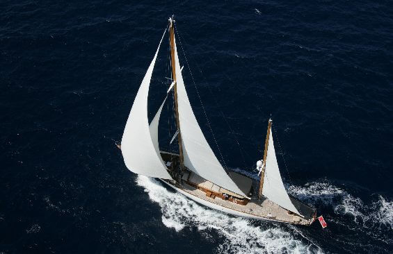 Classic Sailing Yacht Tiziana Aerial View