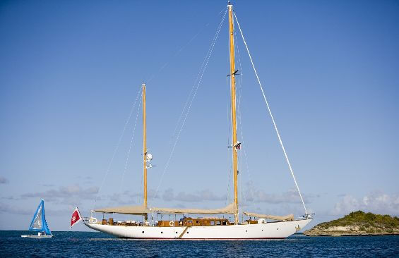 Classic Sailing Yacht Tiziana Anchored
