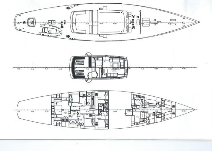 Classic Sailing Yacht Tiziana Deck Plans