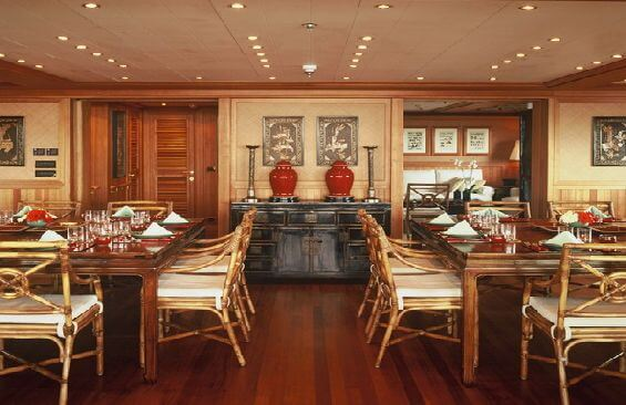 Expedition Vessel Bleu De Nimes Dining Room