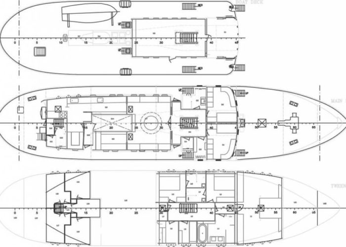 Expedition Vessel Navigator Deck Plans