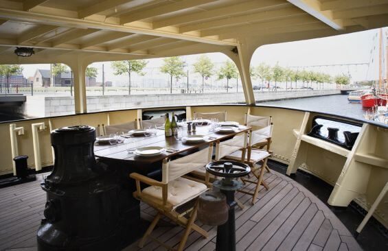 Expedition Vessel Navigator Dining On Aft Deck