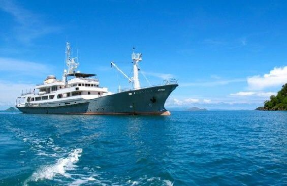 Expedition Vessel Salila Anchored