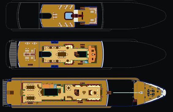 Expedition Vessel Salila Deck Plans