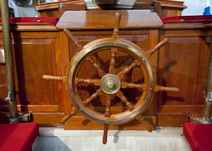 sailing yacht Orianda helm