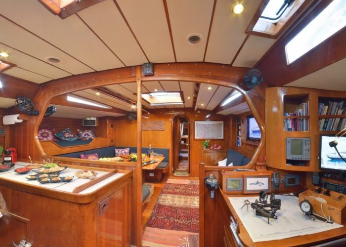 sailing yacht Tangaroa galley saloon