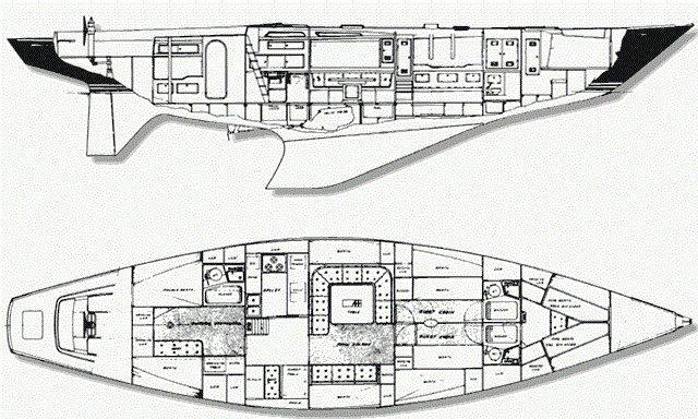 sailing yacht Tangaroa layout