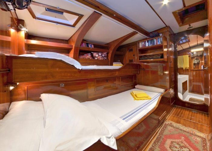 sailing yacht Tangaroa triple or twin cabin