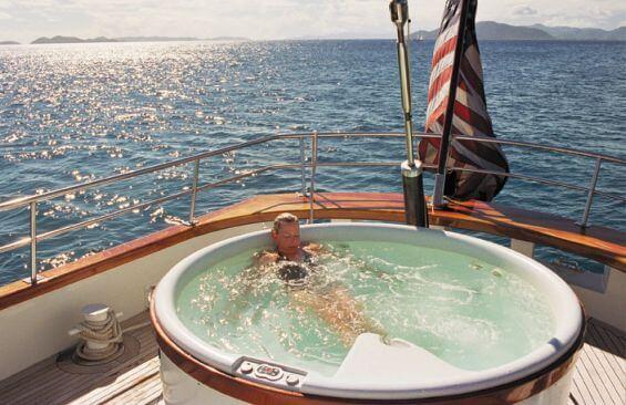Tall Ship Arabella Hot tub